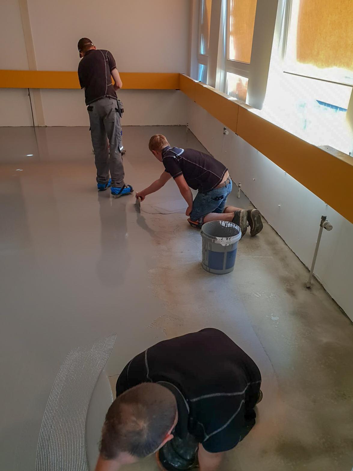 Liquid design vloer - Stedelijk Lyceum Enschede_1